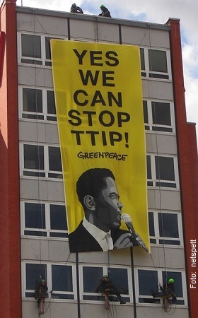 TTIP-Aktion Greenpeace