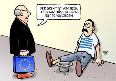 Comic 'Privatisierung'